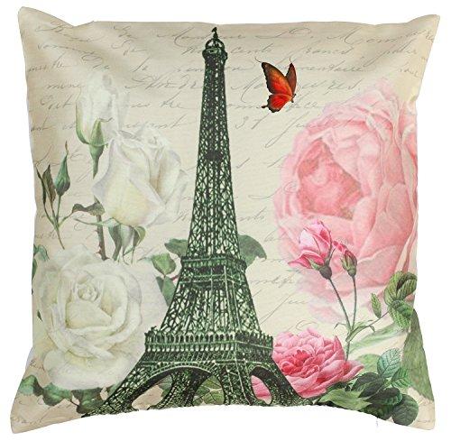 SouvNear Throw Pillow Covers 18x18 Inch Eiffel
