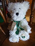 Boyds Bear Plush B. Y. Lotsaluck Irish St Patricks White curly haired 10 bear