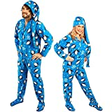 Penguin Footed Pajamas with Drop Seat and Long Night Cap