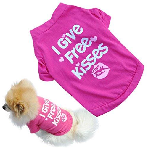 Perman 2016 New Pet Puppy Summer Shirt Small Dog Cat Pet Clothes Vest Cotton T Shirt Hot (M) (Doggy Clothing)