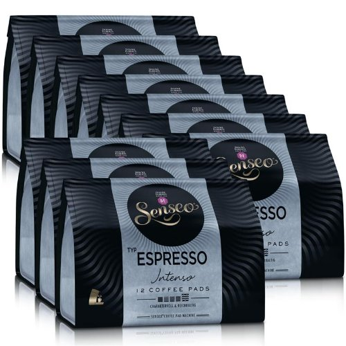 Choose 10x Senseo Espresso Coffee Pods Intenso 12 for Coffee Pod Machines - Senseo