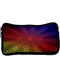 Snoogg Abstract Sun Rays Poly Canvas Student Pen Pencil Case Coin Purse Utility Pouch Cosmetic Makeup Bag