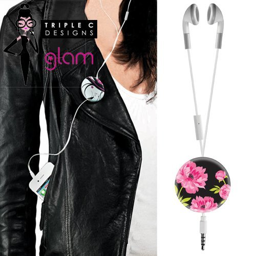 Midnight Blossom Earbuds And Mic By Triple C