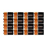 8 Count - Duracell MN1604 9V Volt 6LR61 Duralock Coppertop Alkaline Batteries