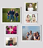 UberLyfe Elegant Groove White Photo Frame Collage Collection - Set of 6 (PF-000714-CLG-WTGVE6PC)