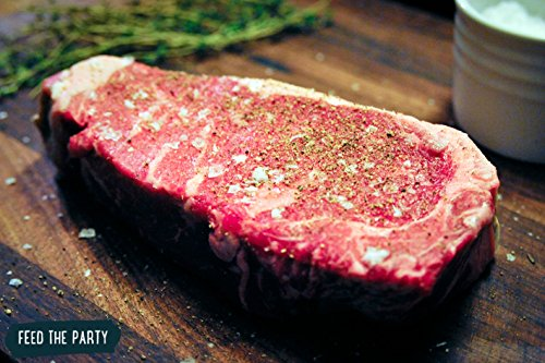 Steak, USDA Choice New York Strip Steaks (8 oz) by Feed The Party, QTY-10
