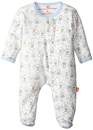 Magnificent Baby Baby-Boys Yoga Monkey Footie