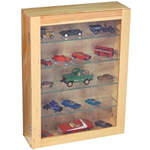 COLLECTION Wall Display Cabinet With 4 Glass Shelves Natural