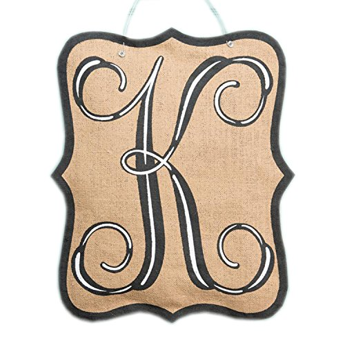 Glory Haus Burlee Initial K Wall Hanging, 21 x 17-Inch