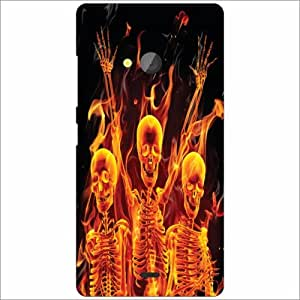 Microsoft Lumia 540 Dual SIM Back Cover - Skeleton Designer Cases