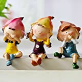 Set of 3 Garden Home Yard Ornaments Gift Decorative Colorful Cartoon Resin Doll Furnishing Decoration Creative Gifts