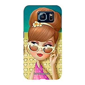 HomeSoGood Girlie Mistress Multicolor 3D Mobile Case For Samsung S6 ( Back Cover)
