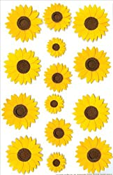 Martha Stewart Sticker Sunflower (Pack of 3)