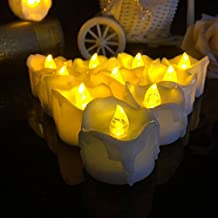 Alcoa Prime Yellow Flicker Battery Candles Plastic Electric Candles Flameless Tea Lights For Christmas Xmas Halloween...