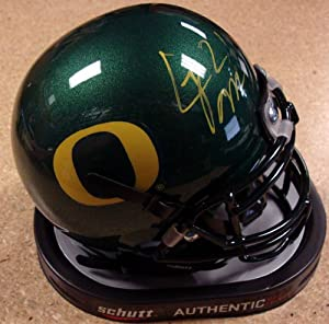 LaMichael James Autographed Oregon Ducks Schutt Mini Helmet PSA DNA RookieGraph