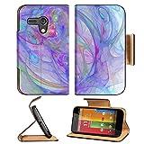 Liili Premium Motorola G 1st Generation Flip Wallet Case Illustration of digital fractal Photo 20615498 Pu Leather Card Holder Carrying