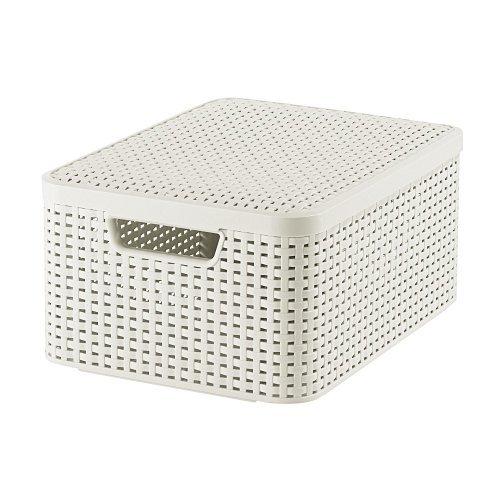 03618-885-00 Aufbewahrungsbox Style mit Deckel M, 18 L, creme