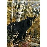 Black Bear Wildlife Outdoors House Flag