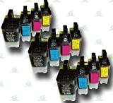 12 High-Capacity LC900 Compatible Ink Cartridges for the Brother MFC-5840CN Printer Model