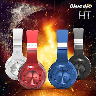 Zaki Bluedio Model Ht Hurricane Series Over-Ear Wireless Bluetooth Headphone For Mobile Phones Computers (Assorted Color) , Blue