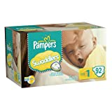 Pampers Swaddlers Diapers Big Pack Size 1 92 Count ~ Pampers