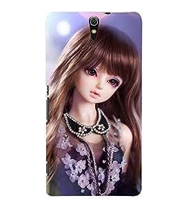 Fuson Cute Girl Case Cover for Sony Xperia C5 dual