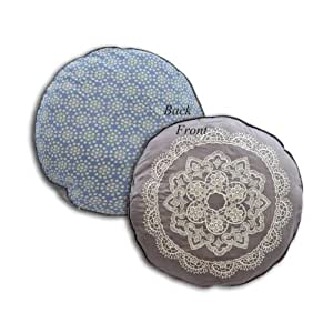 Round Decorative Pillow Set : Amazon.com - Set of Two 18 inch Round Decorative Cushion Pillow - Candy - Throw Pillows