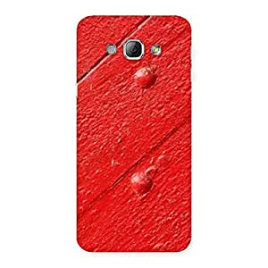 Delighted Red Texture Wood Print Back Case Cover for Galaxy A8