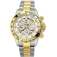 [ジョンハリソン]J.Harison 腕時計 自動巻き ホワイト文字盤 JH-003GW メンズ