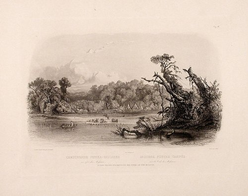 Punka Indians Camped On The Banks Of The Missouri back-1058521