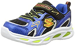 Skechers Infant/Toddler Boys\' S Lights Ipox Rayz,Blue/Black,US 6 M