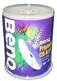 BENQ BQ CDR80 52XPW100PS 2-52倍速対応 CD-R DATA用 プリンタブルホワイト 100枚スピンドルパック
