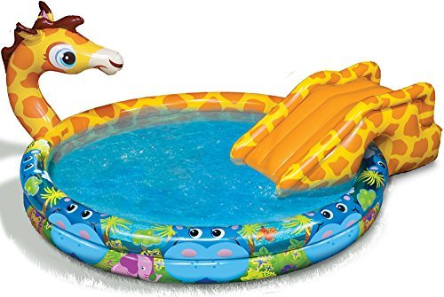 Banzai Spray 'N Splash Giraffe Pool-a Pool, Slide and Sprinkler in One! - 1