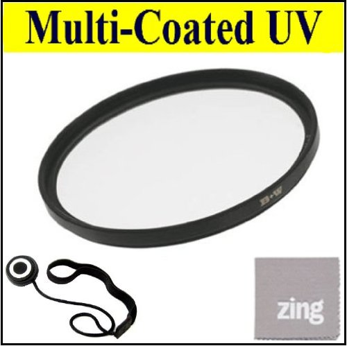 58Mm Multi-Coated Uv Protective Filter For Canon Ef 85Mm F/1.8 Usm Medium Telephoto Lens + Cap Keeper + Microfiber Cleaning Cloth