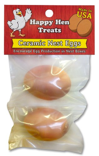 Happy Hen Treats Ceramic Nest Eggs, Brown