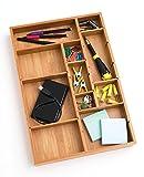 Lipper-International-Bamboo-Adjustable-Drawer-Organizer