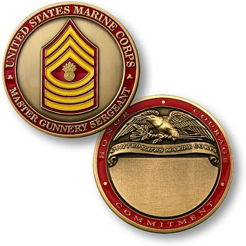 U.S. Marines Master Gunnery Sergeant Engravable Challenge Coin