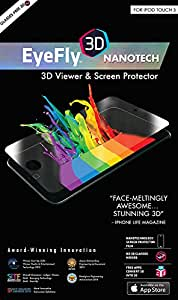 EyeFly3D Nanotech for iPod Touch 5th Generation - World's first PET (Polyethylene Terephthalate) screen protector which turns an ordinary iPod Touch screen into a 3D display, without the need for 3D glasses. Fingerprint and Water Resistant.