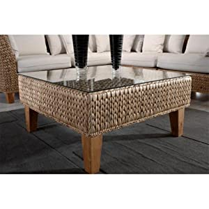 Coffee Table With Glass Round Wicker Coffee Table