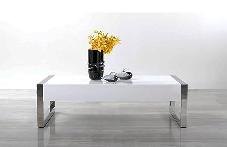 Modern White / Chrome Coffee Table 115A