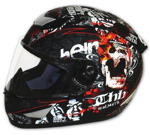 Full Face Cruiser Helmets >> Skull Motorcycle Helmet Grand Sales Thh Ts 41 Street Bike Full Face