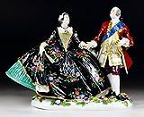マイセン 人形 フィギュア アウグスト三世とマリア王妃 舞踏会