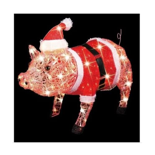 3 d lighted christmas pig holiday outdoor