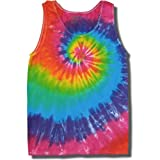 Tie Dye Mania Retro Swirl Tie-Dye Tank Tops for Men