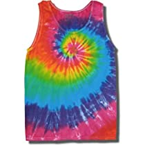 Tie Dye Mania Retro Swirl Tie-Dye Tank Tops for Men - Medium