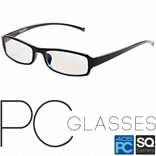 パソコン用 PCメガネ めがね 眼鏡 ブルーライト/青色光 低減 カット 405PC SQシリーズ グロスブラック