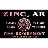 qy51200-r FIRE DEPT ZINC, AR ARKANSAS Firefighter Neon Sign Barlicht Neonlicht Lichtwerbung