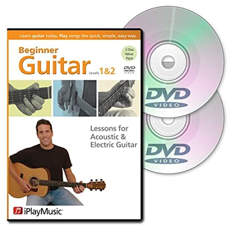 Beginner Guitar Lessons- Level 1 and 2 DVD Combo Pack