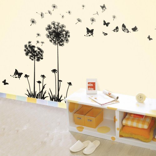 Walplus Dandelion Flowers Wall Stickers Mural Art Decor