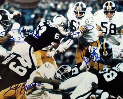 LC Greenwood Autographed/Hand SignedPittsburgh Steelers 16X20 Photo 4 sig Color Action at Amazon.com